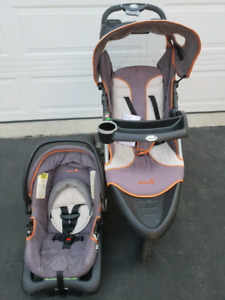 Jogging Stroller with Matching Infant Carrier