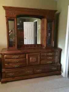 Bedroom dresser with mirror