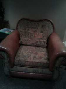 Large couch and big comfy chair