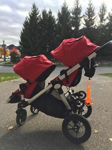 Double City Select Baby Jogger Stroller with glider