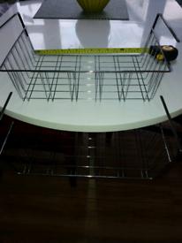 Under shelf storage trays
