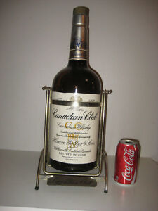 GIANT! CANADIAN CLUB BOTTLE w STAND - A MUST FOR YOUR MAN CAVE!