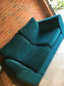 NEXT teal medium sized sofa