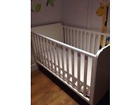John Lewis cot bed 140cm x 90cm white