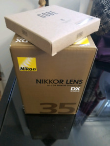 New 35mm Nikkor Lens with new Gobe polarized filter