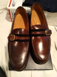 $2000 Crockett Jones Cigar Shell Cordovan Ribbon Loafers UK8.5
