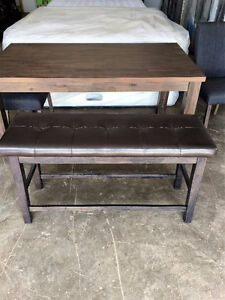 Brand new Kitchen table with doublewide bench and 2 chairs for s