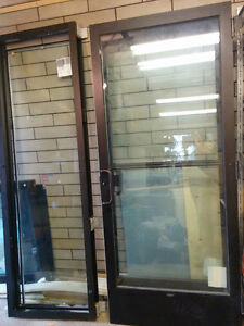 2 sets of Brand New Commercial Double Doors with side light wdw