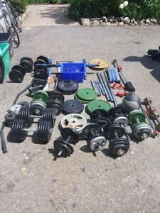 Free weights for sale, weight lifting...cast iron