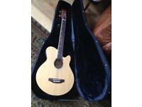 WESTFIELD JBEA-N electro acoustic/electric guitar as new with hardcase