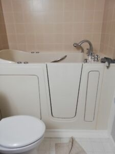 Safe Step Walk-In Tub with hydro massage