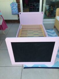 Free Mothercare toddler bed with chalk board headboard