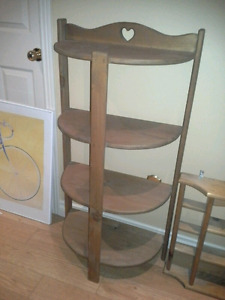 Wooden stand and wall rack