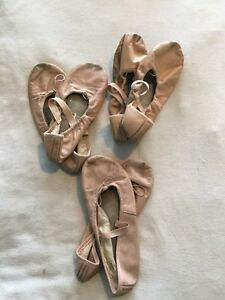 Three pairs of Pink Ballet Slippers