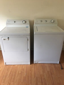 maytag white big capacity top load washer electric dryer