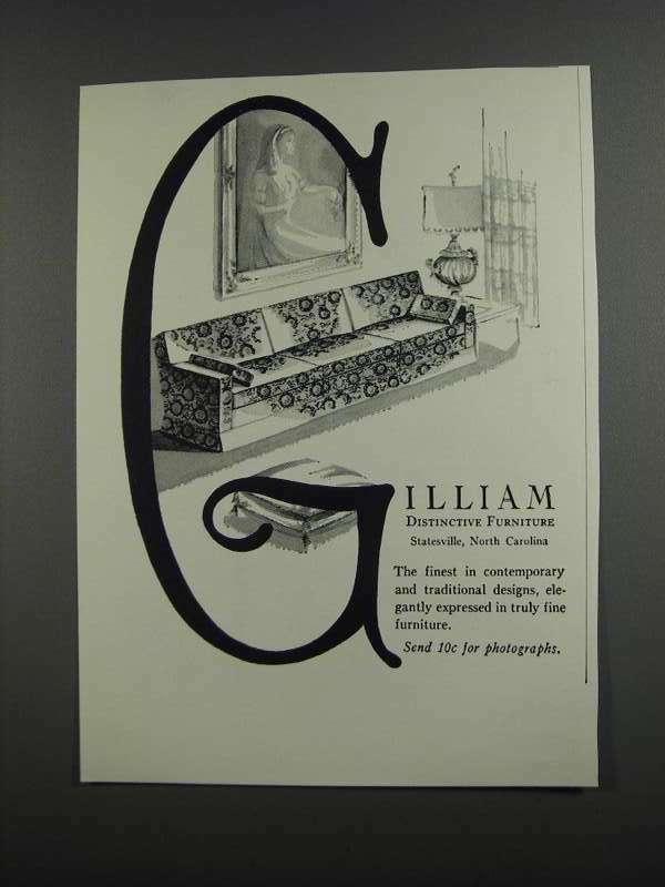 1958 Gilliam Furniture Ad - Distinctive Furniture