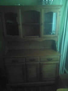 80 year old antique buffett and hutch