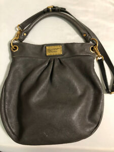 Authentic MARC BY MARC JACOBS Classic Q Hiller bag in dark grey