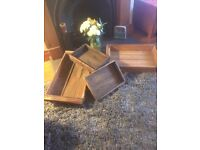 Selection of vintage crates