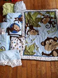 Couvertures et drap singe