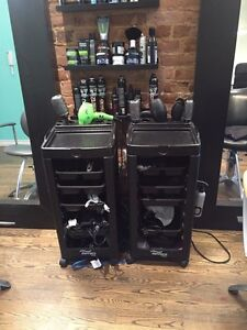 3 hairstyling trays / cabaret coiffure