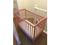 Pink Space Saver Cot