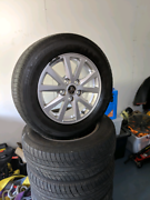 Vf 16 inch commodore rims and tyres Newcastle Newcastle Area Preview