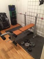 BENCH PRESS ENERGETIC et POIDS LIBRES