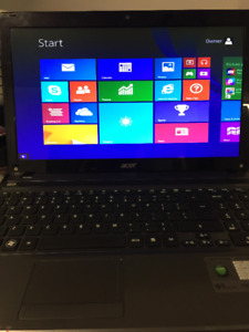 Acer laptop 500 gb hd, 8 gb ram, windows 8.1