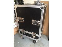 Flight Case on wheels with brakes