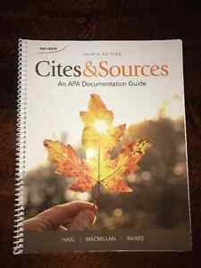 Cites & Sources: An APA Documentation Guide (4th Edition)