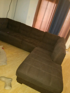 brown sectional from clean home