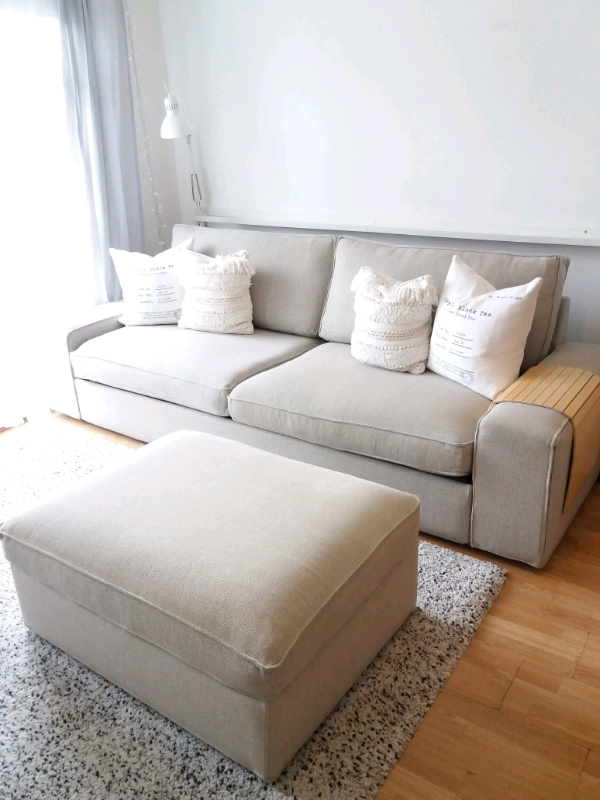 Ikea Kivik Sofa Bed Amp Footstool Light Beige In Luton