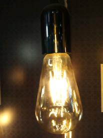 Chrome E27 pendant light fitting