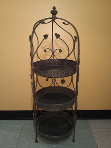 Antique Wrought Iron stands