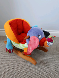 Mamas and Papas Wooden Elephant Rocker