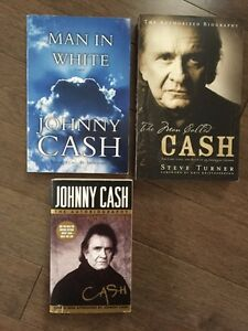 A collection of Johnny Cash books