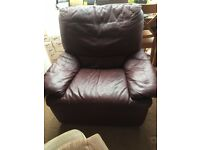 Leather sofas 3 seater, 2 seater and 1 recliner