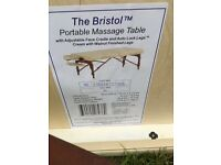 Brand New cream portable massage table for sale