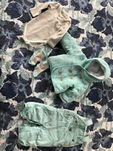 Brand New French Baby Outfit 0-3 Months