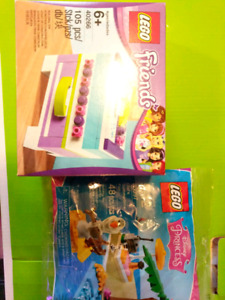 Sealed Lego Friends Jewelry Box and Disney Princess Olaf Poly
