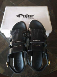NEW Pajar Toledo Platform Women's Leather Sandal Sz 9-9.5