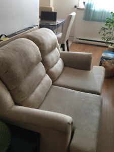 Free chair and Love Seat + compact GE mini fridge. Will pay u 20
