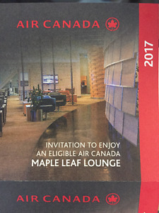 Air Canada Maple Leaf Lounge 2017 Passes for Sale