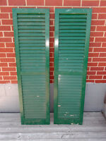 VINTAGE window shutters - $25 each or BOTH for only $40