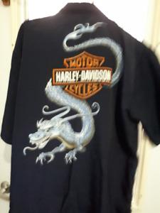 Harley Davidson, veste pentalon cuir neuf,  kit pluie ,chemise