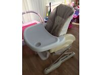 High chair in excellent condition £30 ono