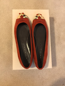 Burberry Check Leather & Suede Ballet Flats
