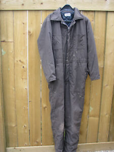 """EMERY"" QUILTED INSULATED COVERALLS, SIZE 44, ONLY $45"