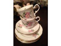 Gorgeous bone China tea set Elizabethan Staffordshire wedding chabby chic